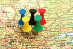 Londonolympics-KartePin Lizenzfreies Stockfoto