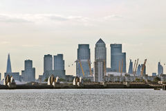 Londons City and barrier Royalty Free Stock Photos