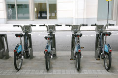 Londons Fahrrad, das Entwurf teilt Stockfotos