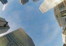 Londons Finanzinneres Stockfotografie
