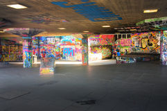 Londons south embankment grafitti skater park Stock Image