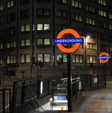 Londonuntertagezeichen Lizenzfreie Stockfotografie