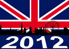 Londra 2012 royalty illustrazione gratis
