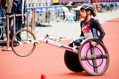Londra 2012: atleta sulla sedia a rotelle Fotografie Stock Libere da Diritti