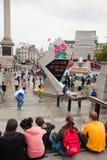 Londra 2012, quadrato di Trafalgar Immagini Stock Libere da Diritti