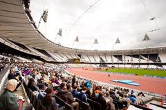 Londra 2012: stadio olimpico Fotografia Stock Libera da Diritti