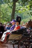 Londra, adunarsi della Elizabeth della regina dei colori Fotografia Stock Libera da Diritti