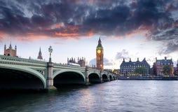 Londra al crepuscolo Fotografia Stock Libera da Diritti