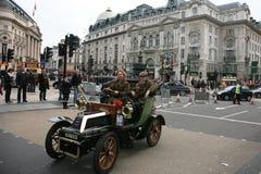 Londra all'esecuzione dell'automobile del veterano di Brighton Fotografia Stock Libera da Diritti