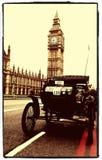 Londra all'esecuzione dell'automobile del veterano di Brighton Fotografie Stock