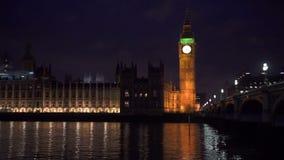 Londra alla notte stock footage
