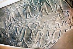 29 07 2015, LONDRA, BRITISH MUSEUM - scena egiziana della tavolozza dei cacciatori Fotografia Stock