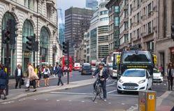 Londra Città della vista della via di Londra fotografia stock libera da diritti