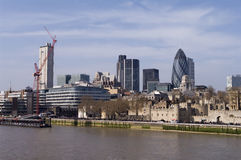 Londra dal Tamigi Immagine Stock Libera da Diritti
