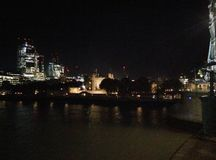 Londra e le luci fotografia stock