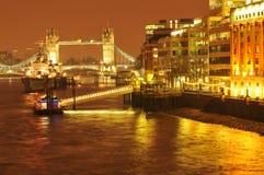 Londra entro la notte Immagini Stock Libere da Diritti