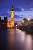 Londra entro la notte Fotografie Stock