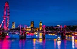 Londra entro Night Immagini Stock Libere da Diritti