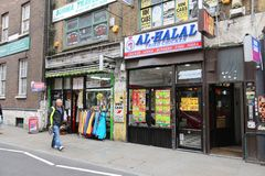 Londra etnica fotografia stock