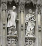 Londra - facciata dell'Abbazia di Westminster Fotografie Stock