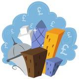 Londra finanziaria Immagine Stock