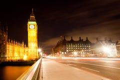 Londra grande Ben dal ponticello di Westminster Immagine Stock Libera da Diritti
