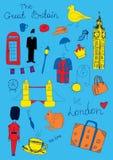 Londra ha colorato gli oggetti Fotografia Stock
