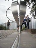 Londra il meridiano di Greenwich fotografia stock libera da diritti