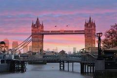 Londra - il ponte della torre Immagini Stock Libere da Diritti