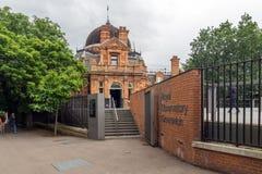 LONDRA, INGHILTERRA - 17 GIUGNO 2016: Osservatorio reale a Greenwich, Londra, Gran Bretagna Immagine Stock Libera da Diritti