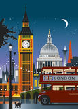 Londra Inghilterra Nightime royalty illustrazione gratis