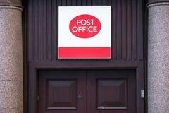 Londra, Inghilterra/Regno Unito - 15 dicembre 2018: Ufficio postale chiuso immagine stock libera da diritti