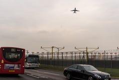 LONDRA, INGHILTERRA - 25 SETTEMBRE 2017: Linee aeree Boeing di British Airways 767 G-BNWB che decollano nell'internazionale Airpo Immagini Stock Libere da Diritti