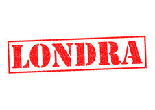 LONDRA. London Rubber Stamp over a white background Stock Image
