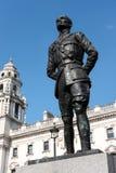 LONDRA - 13 MARZO: Statua di Jan Christian Smuts nel Parlamento quadrato Fotografia Stock Libera da Diritti
