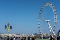 LONDRA - 13 MARZO: Vista dell'occhio di Londra a Londra il 13 marzo, 20 Fotografia Stock Libera da Diritti