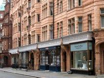 Londra, negozi del distretto di Mayfair Immagine Stock