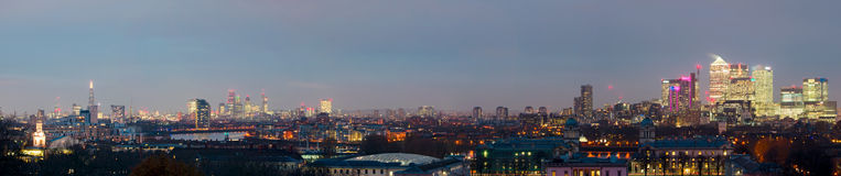 Londra, orizzonte di alta risoluzione Fotografie Stock