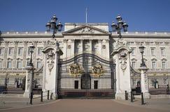 Londra - Palazzo di Buckingham e cancello Immagini Stock Libere da Diritti