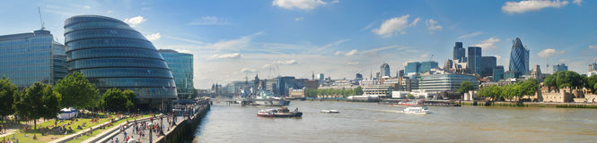 Londra panoramica Fotografie Stock Libere da Diritti