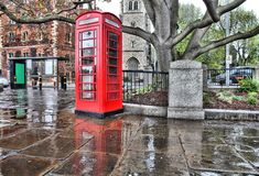 Londra piovosa Fotografia Stock