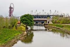 Londra prepara: Eventi olimpici della prova Fotografia Stock