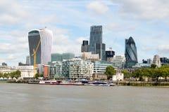Londra, Regno Unito - 31 agosto 2016: Città della vista di Londra Immagine Stock Libera da Diritti