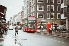 Londra, Regno Unito - 18 agosto 2017: Le vie di Londra Immagini Stock