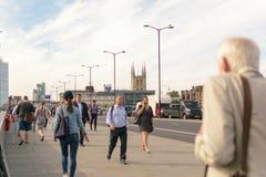 Londra, Regno Unito - 31 agosto 2016: Vista del ponte di Londra sul Tamigi Fotografie Stock