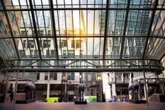 LONDRA, REGNO UNITO - 24 APRILE 2014: Città di Londra una dei centri principali di finanza globale, sedi per le banche diretrici Fotografie Stock