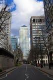 LONDRA, Regno Unito - CANARY WHARF, il 22 marzo 2014 viale di India Occidentale Fotografie Stock
