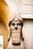 LONDRA, Regno Unito, decorazioni di BRITISH MUSEUM dai palazzi assyrian Fotografie Stock