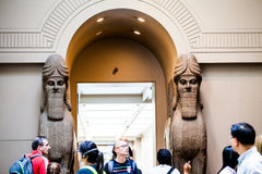 LONDRA, Regno Unito, decorazioni di BRITISH MUSEUM dai palazzi assyrian Fotografia Stock Libera da Diritti