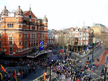 LONDRA, REGNO UNITO - 14 FEBBRAIO 2016: Folla per il nuovo anno cinese 2016 Fotografia Stock Libera da Diritti